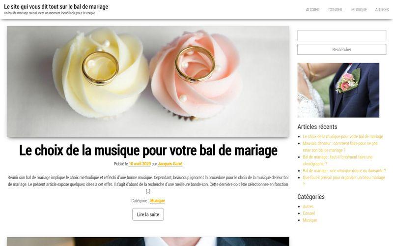 Le site qui vous dit tout sur le bal de mariage