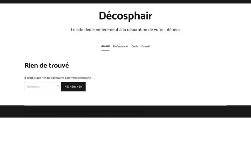 Décosphair - Le site dédié entièrement à la décoration de votre intérieur